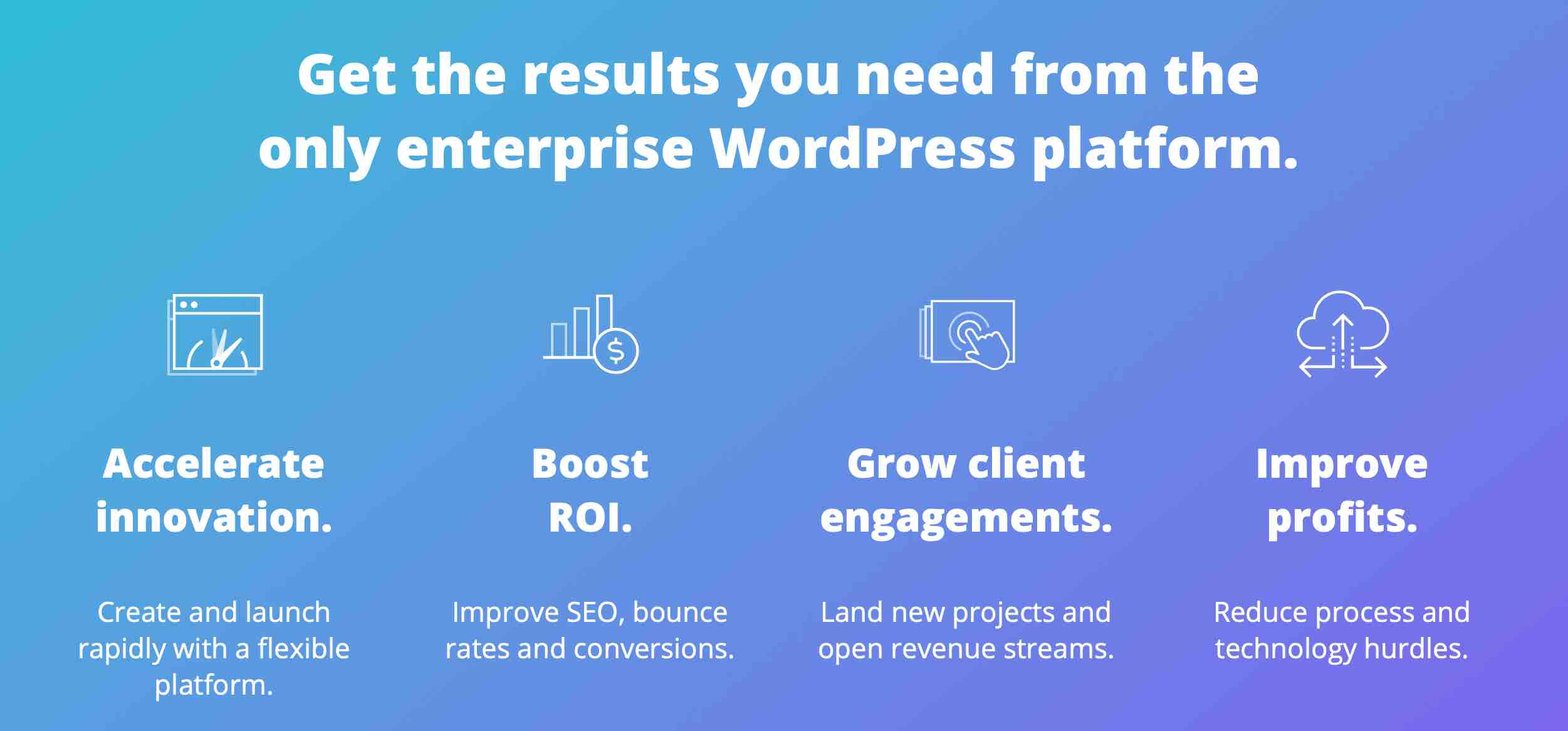 Get the results you need from the only enterprise WordPress platform