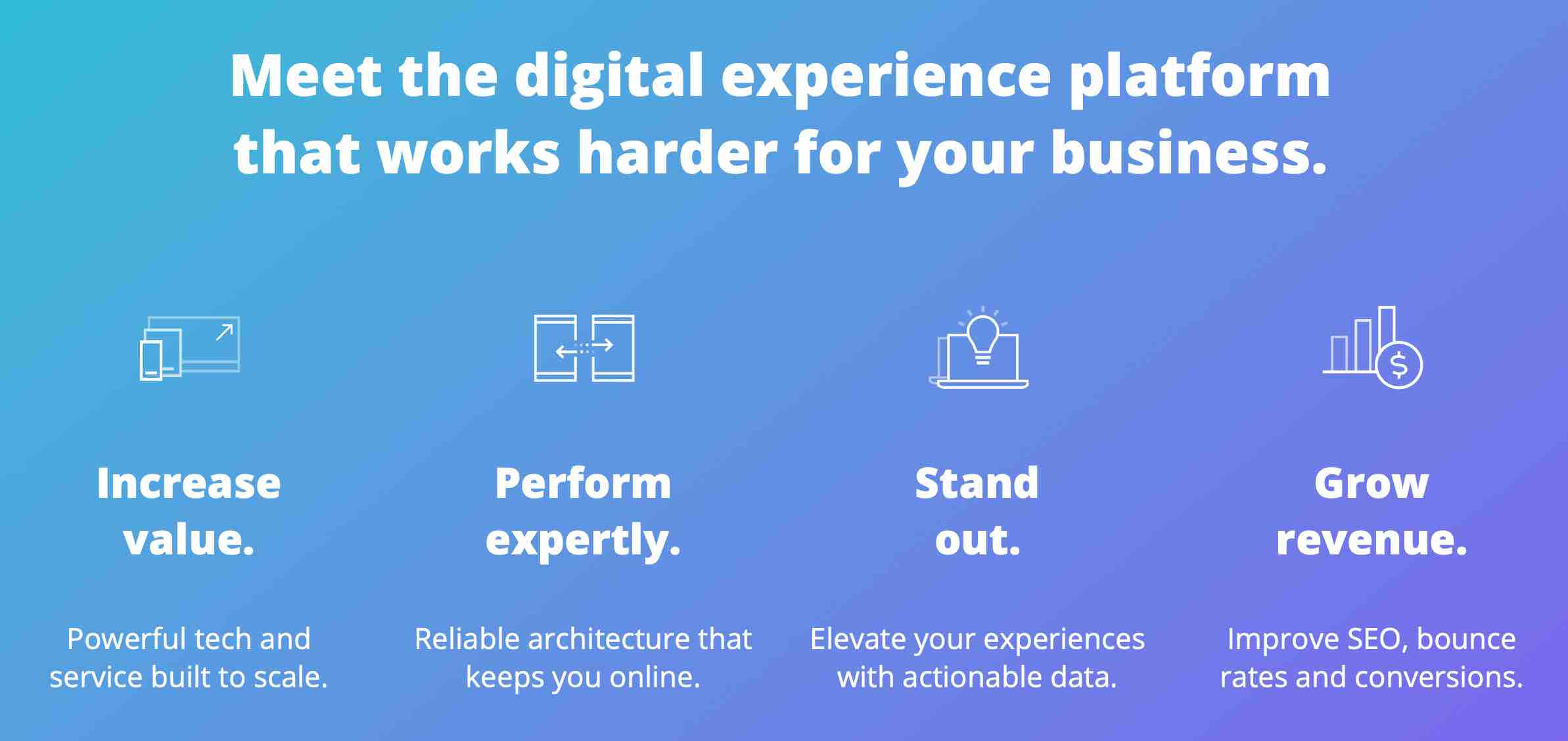 Meet the digital experience platform that works harder for your business