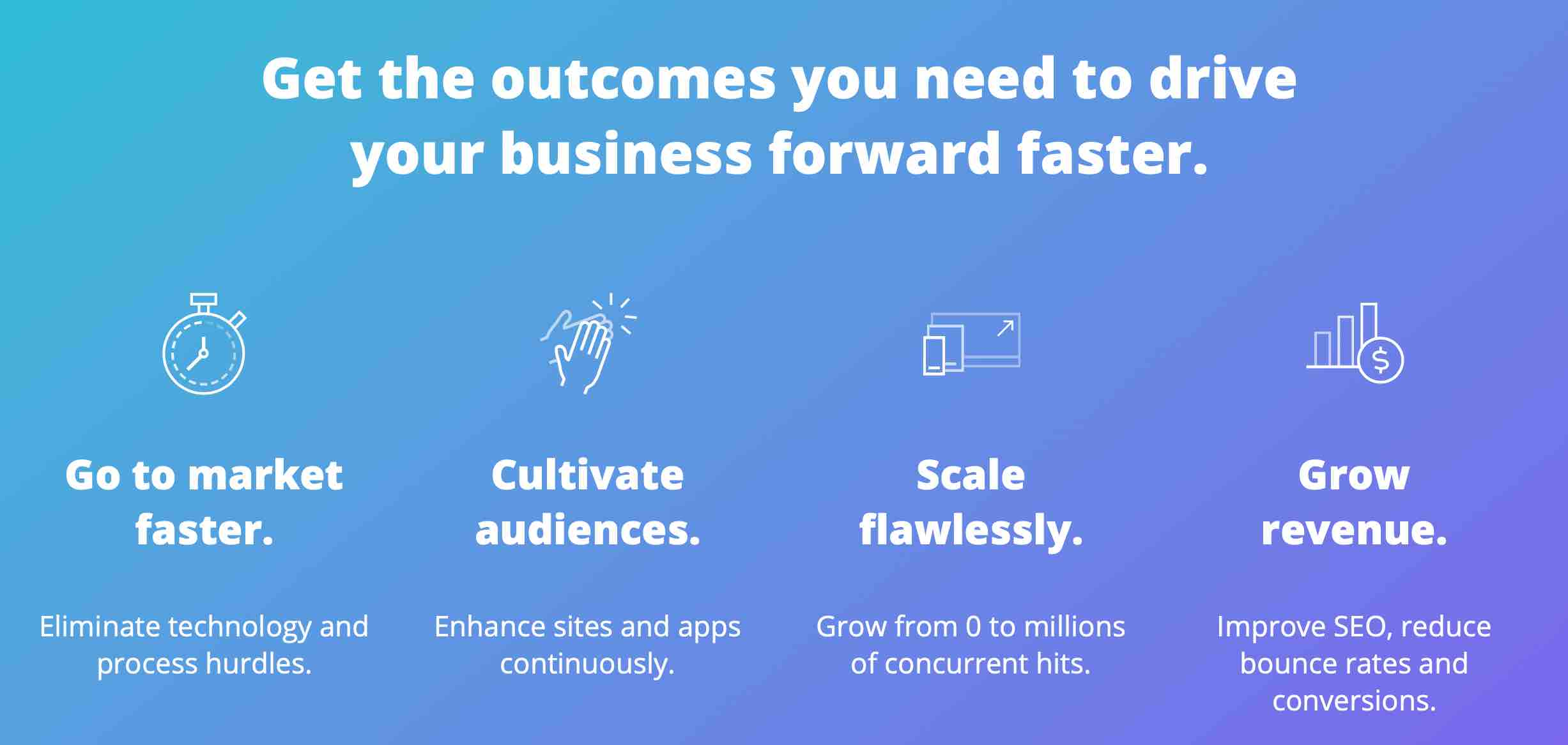 Get the outcomes you need to drive your business forward faster