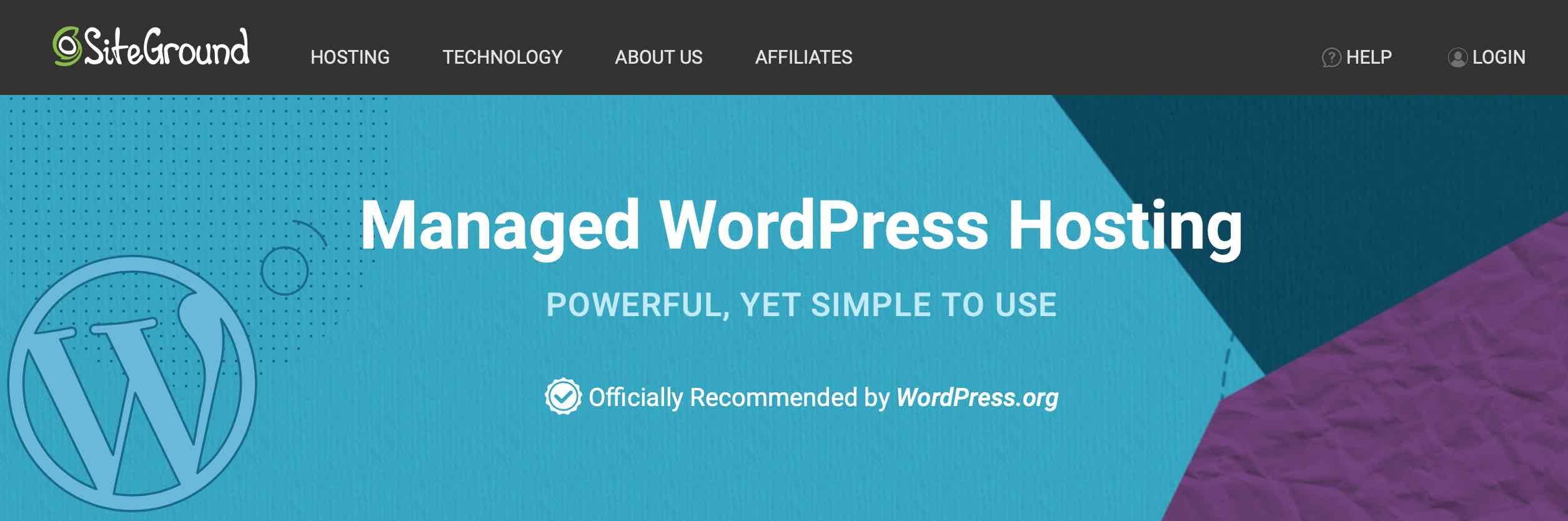 Officially Recommended by WordPress.org