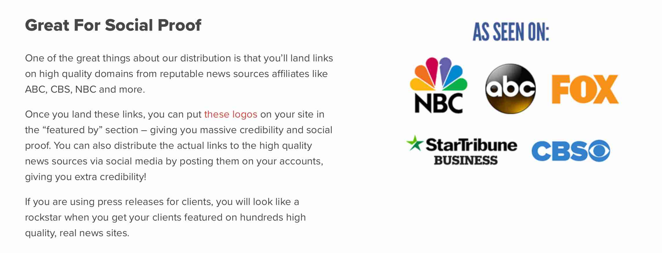 The Highest Quality Press Release Service Available