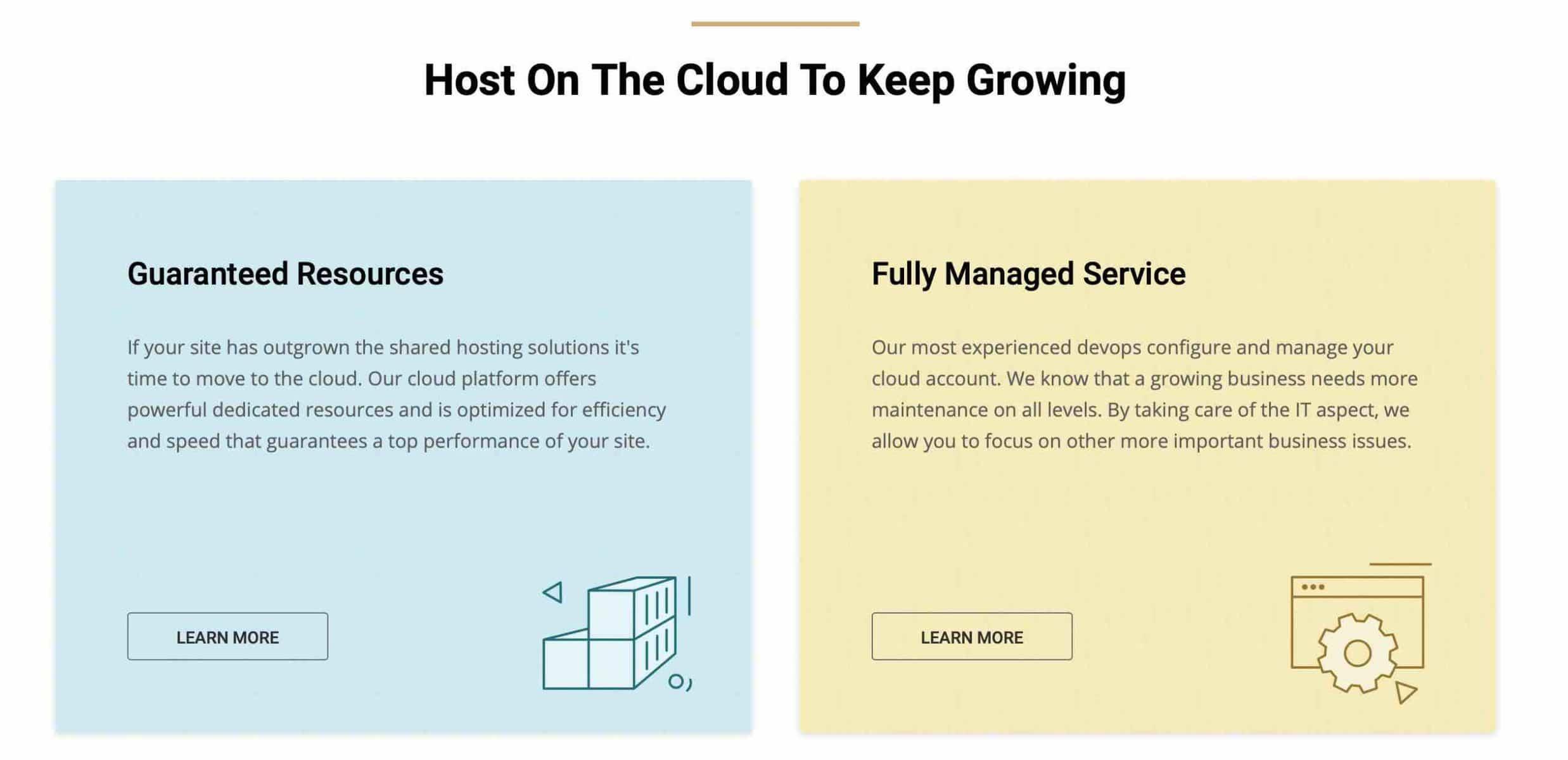 Host ?n ?he Cloud To Keep Growing