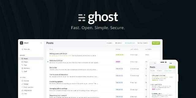 Ghost - Alternatives to WordPress