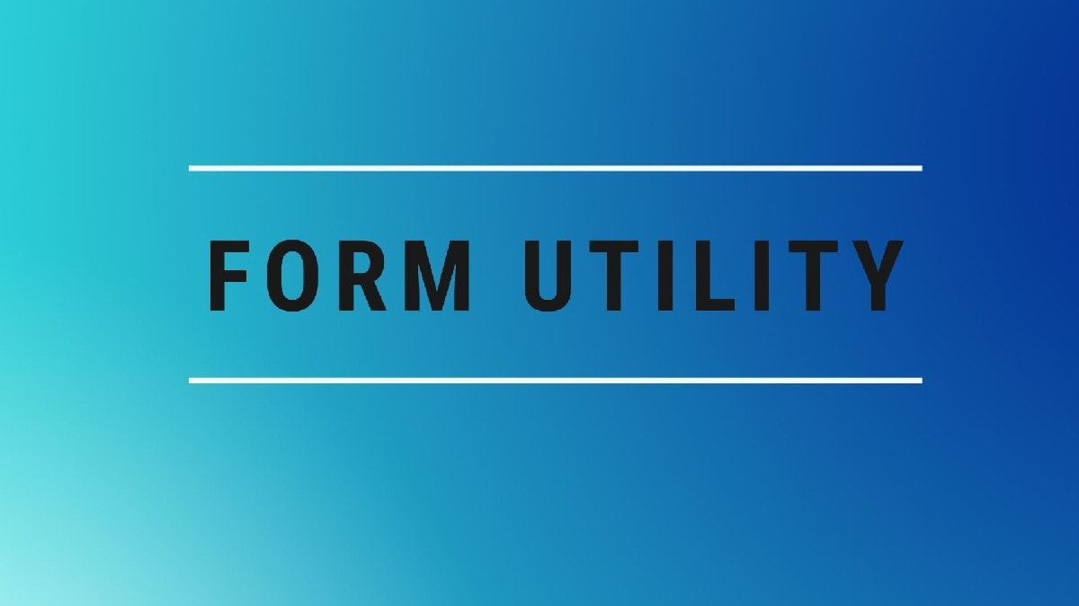 Definition of form utility