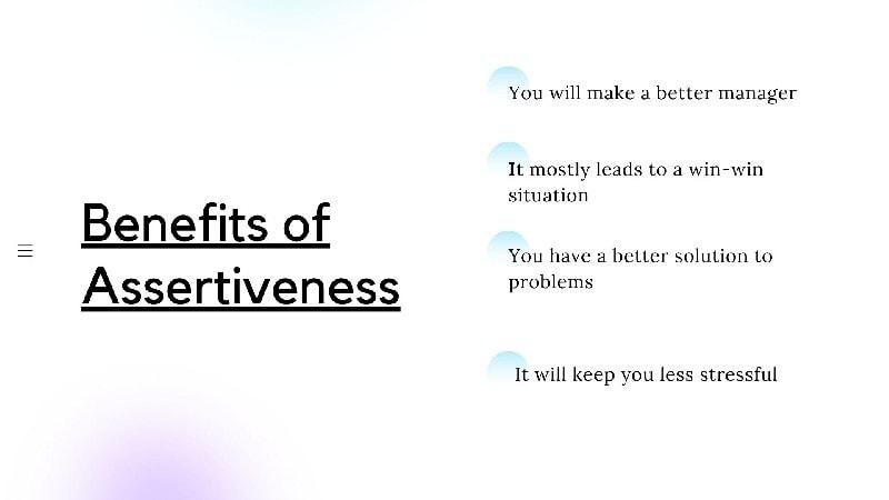 Benefits of Assertiveness
