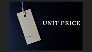 Defining the Term Unit Price
