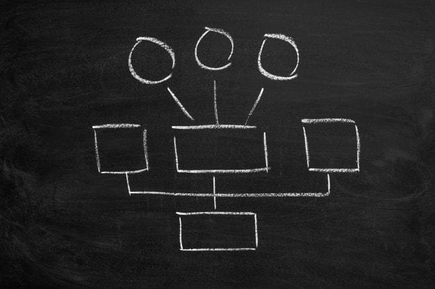 Organizational Structure designed via organizational charts