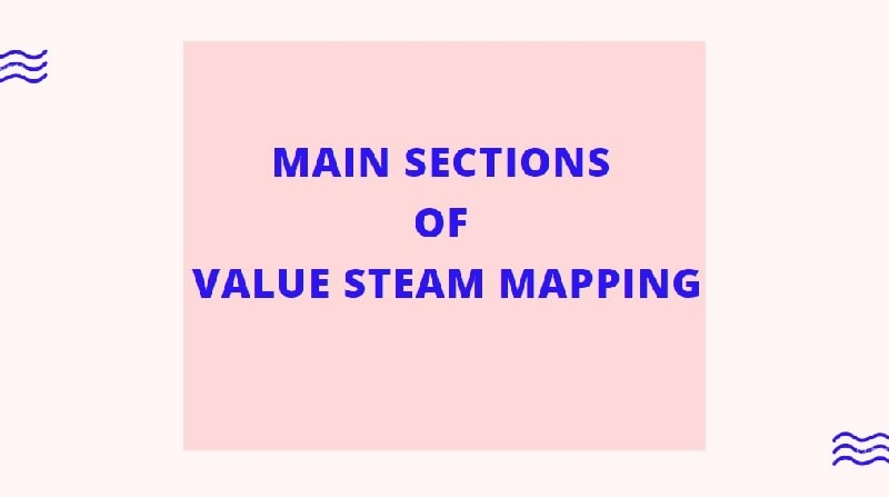Main Sections of Value Steam Mapping