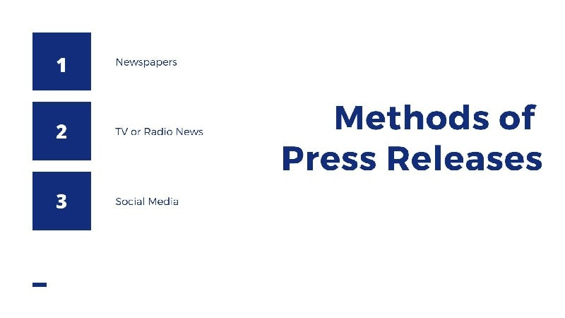 Methods of Press Releases