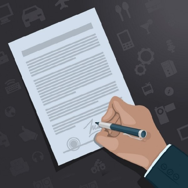 The Execution of a Sales Agreement - 1