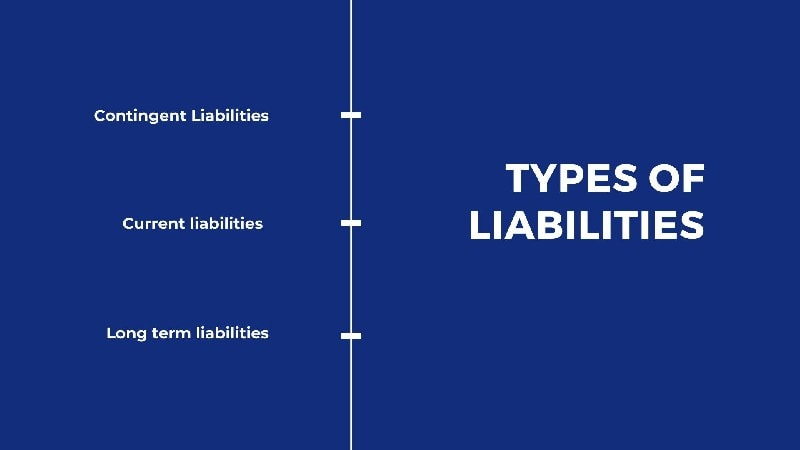 Types of liabilities