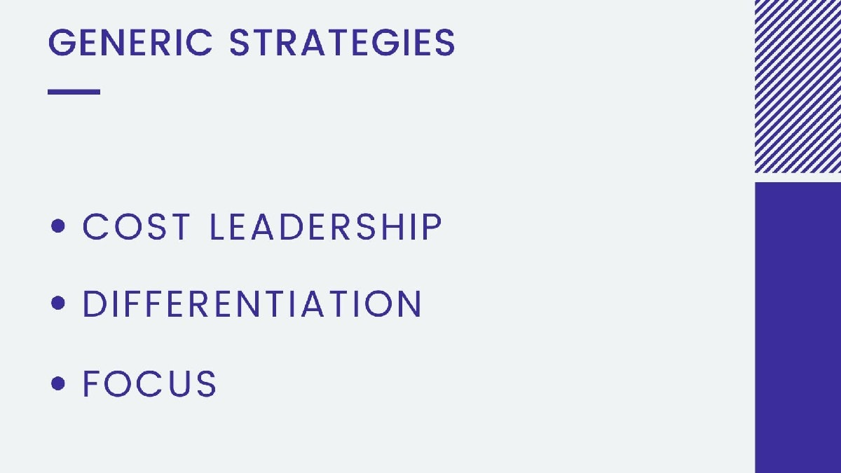 What are the generic strategies