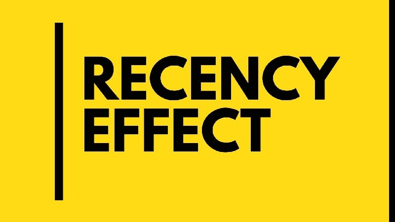 Where I can see this Recency Effect