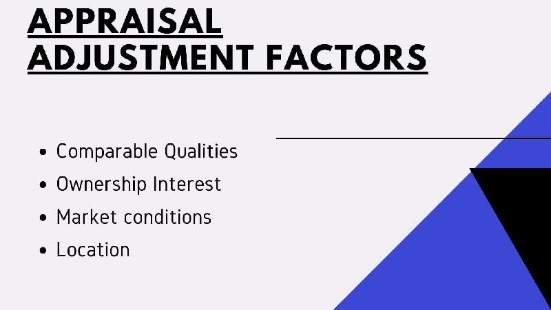 Appraisal adjustment factors