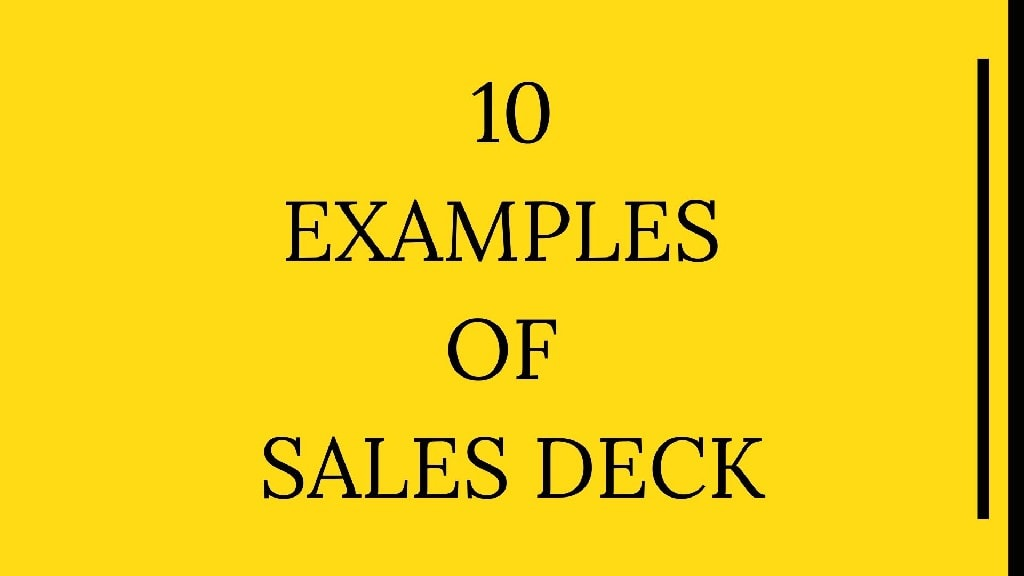Examples of Sales Deck