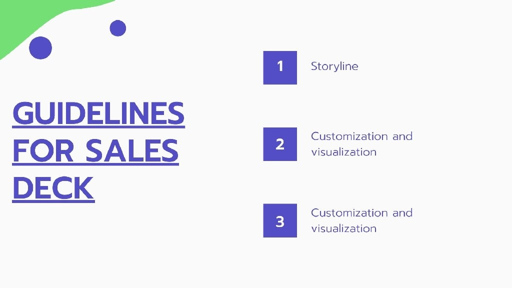 Guidelines for Sales Deck