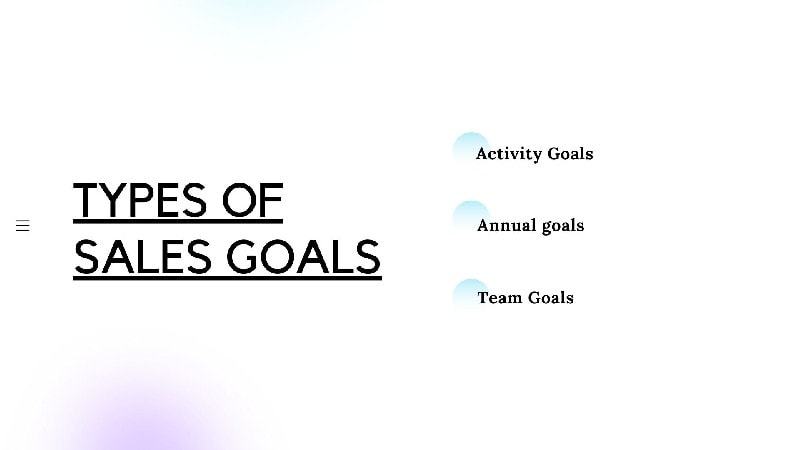 Types of Sales Goals