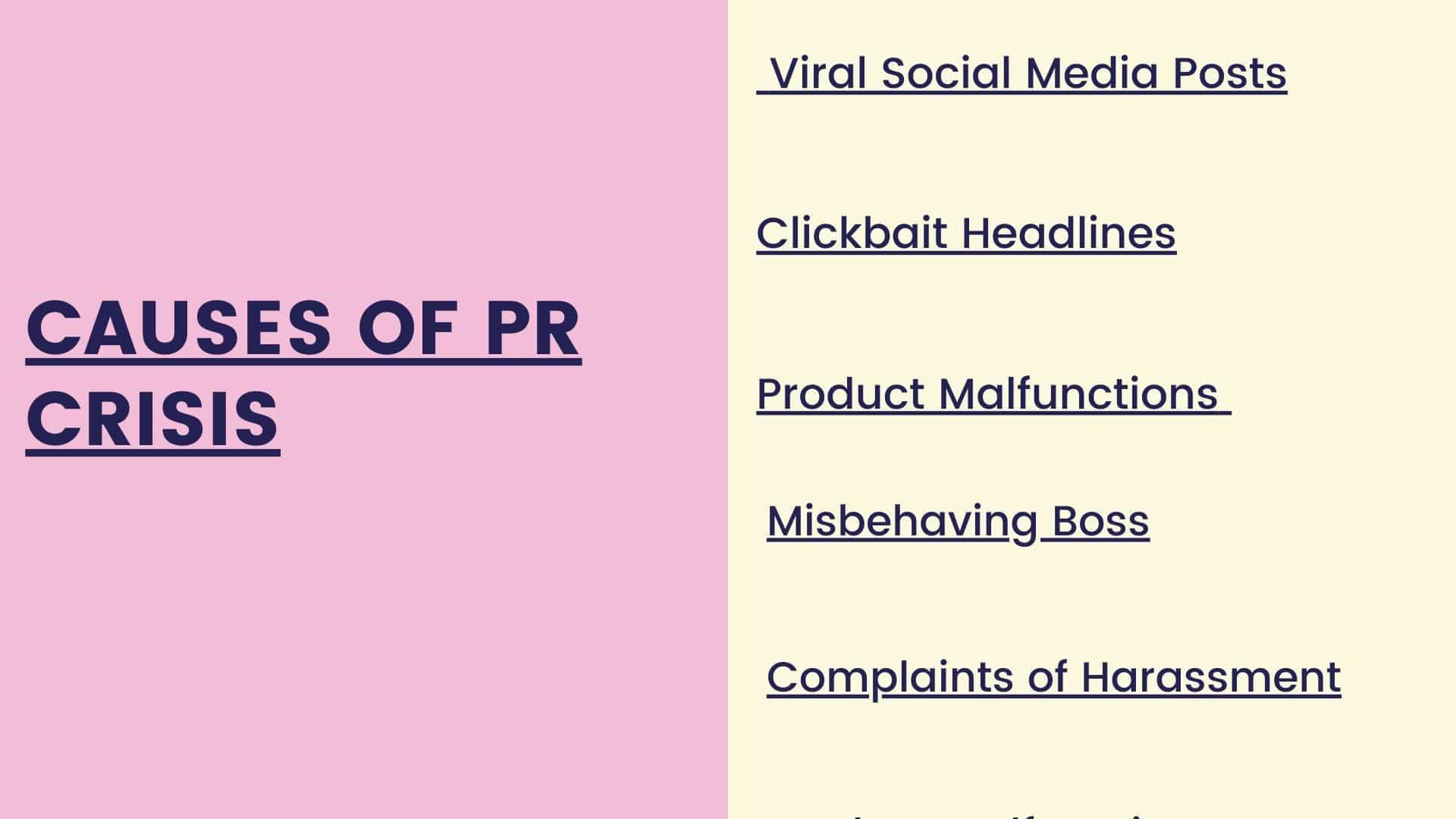 Causes of PR Crisis