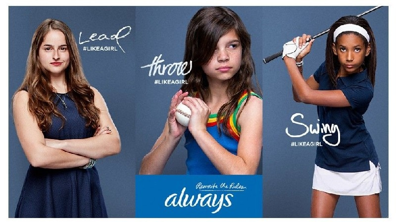 Always Advertising Example- #LikeaGirl Campaign