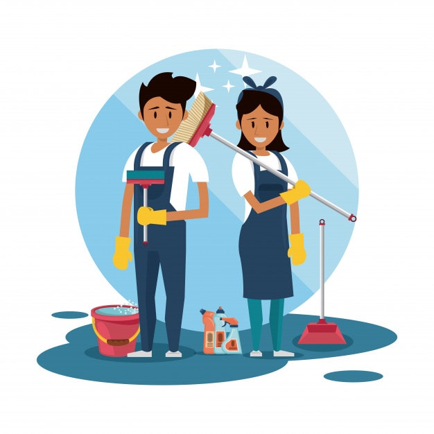Book cleaners and handymen beforehand