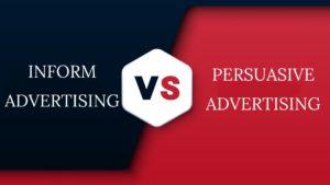 Informative Advertising Vs Persuasive Advertising