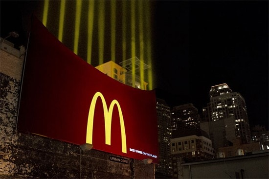 McDonald's Night time service is an excellent examplel of advertising