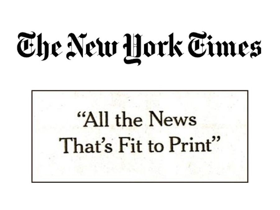 New York Times – All The News That's Fit To Print