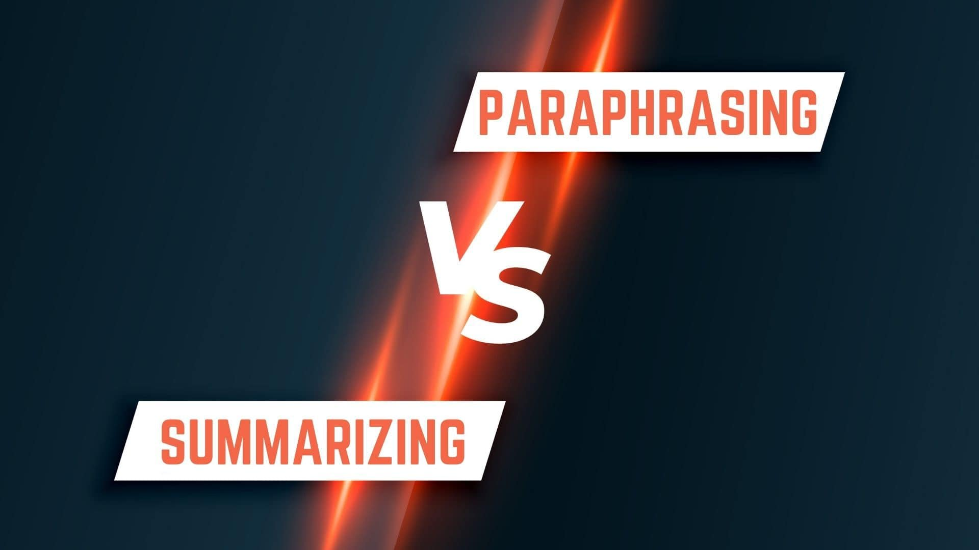 Differences between paraphrasing and summarizing