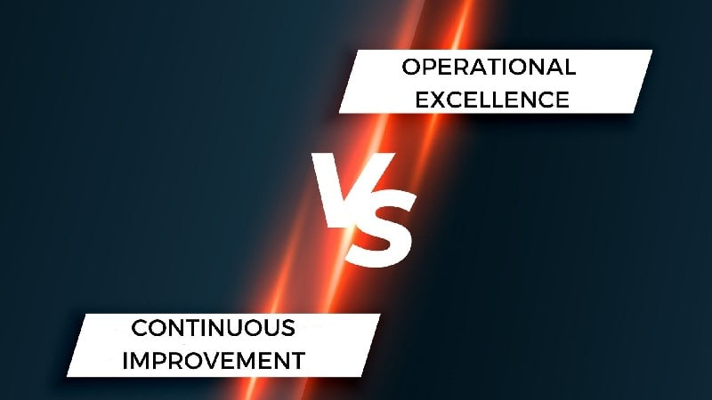 Operational excellence vs continuous improvement