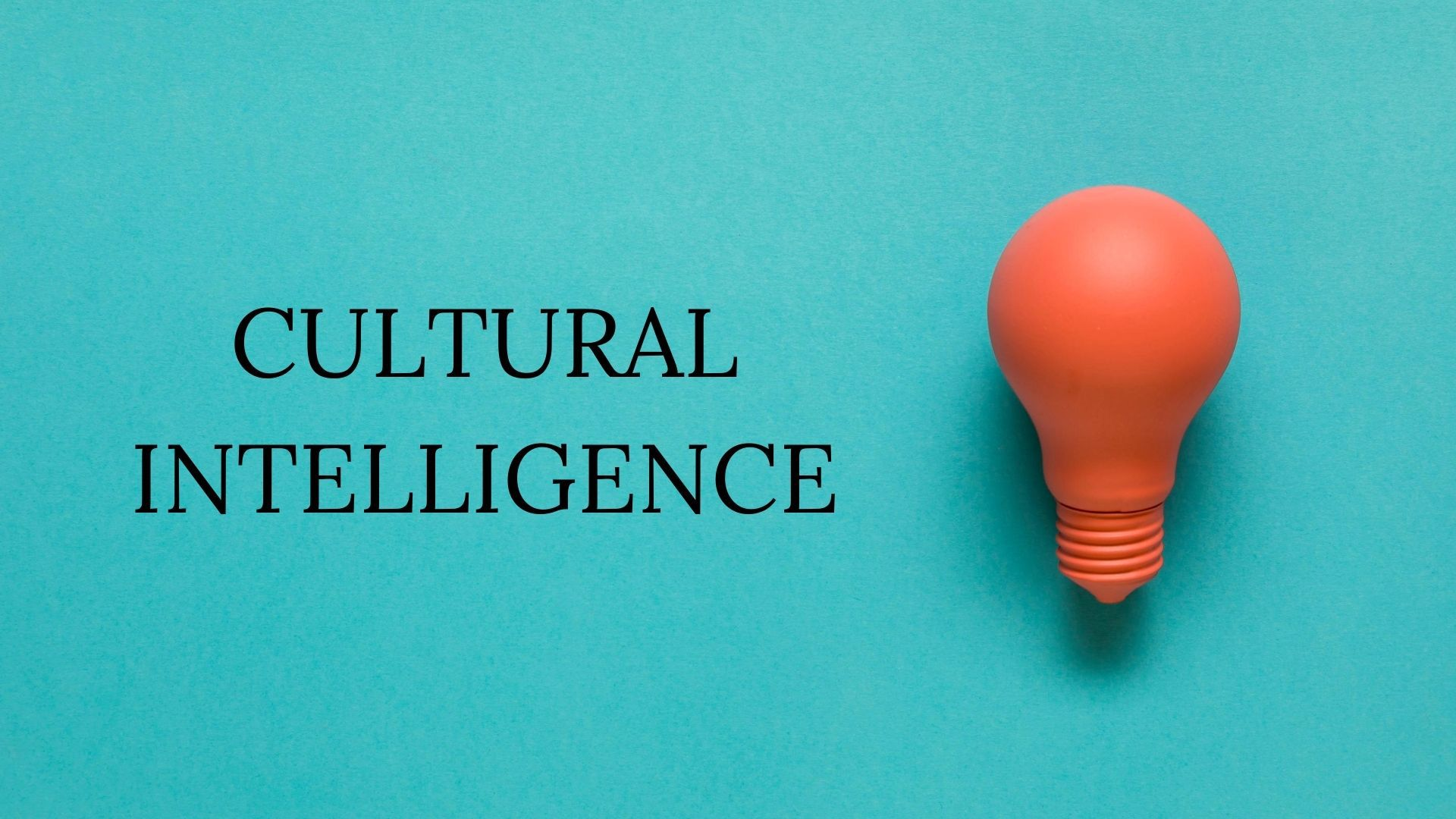 What is Cultural Intelligence