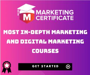 Marketing Certificate Sidebar Banner