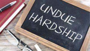 Undue Hardship - 1