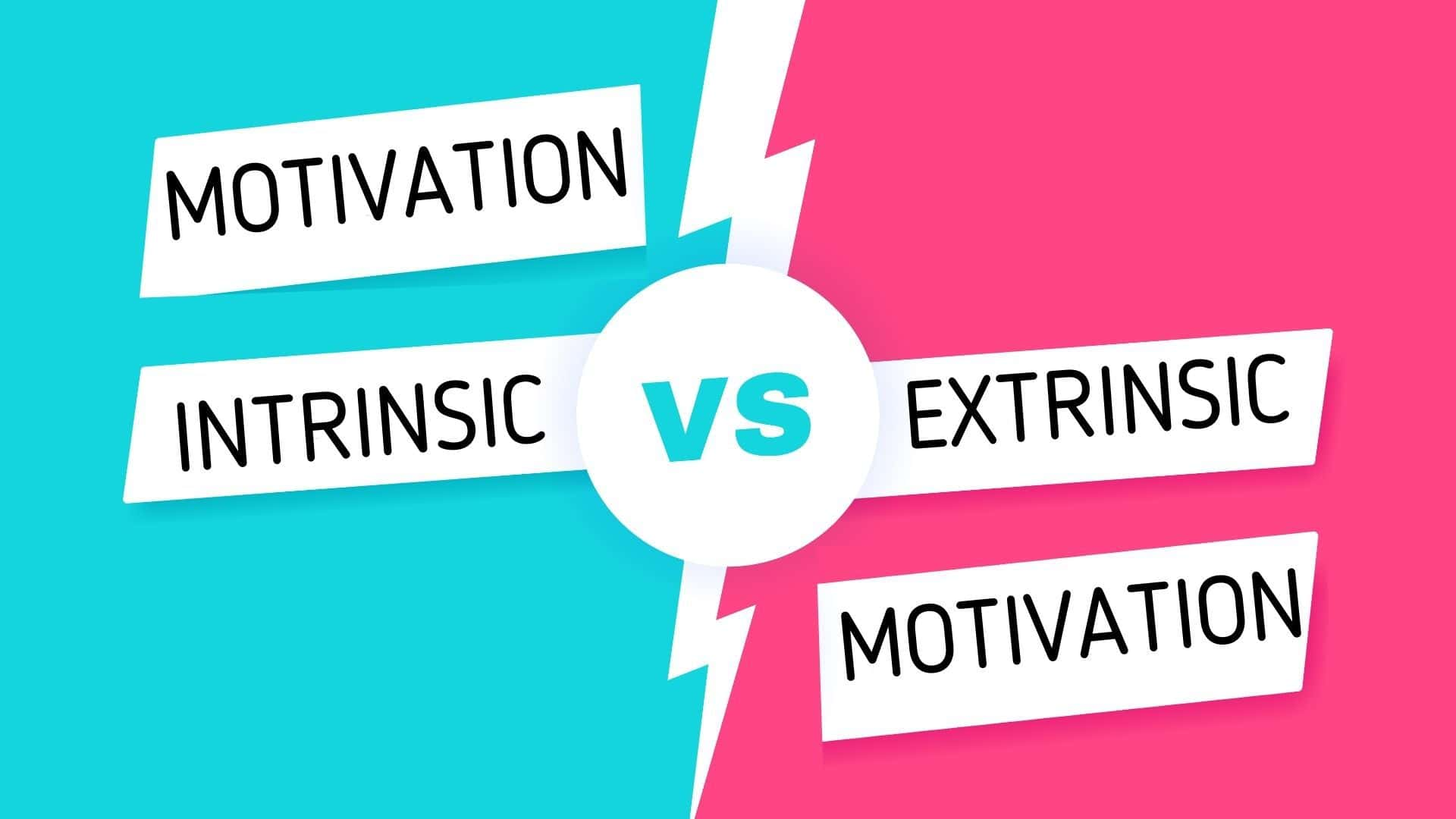 Difference between intrinsic and extrinsic motivation