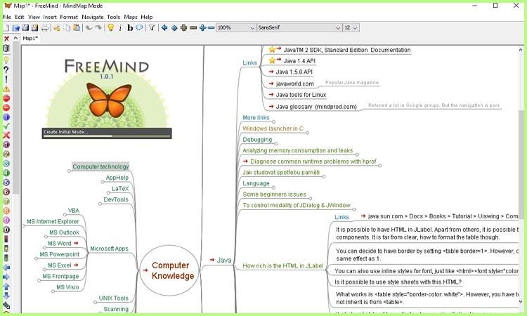 Mind Map tool Freemind