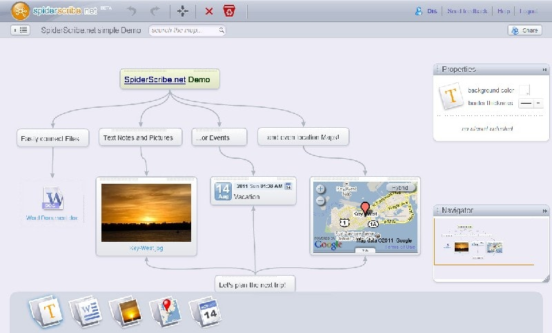 Mind Map tool SpiderScribe