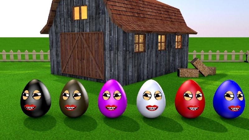 Learning Colors – Colorful Eggs on a Farm – Miroshka TV