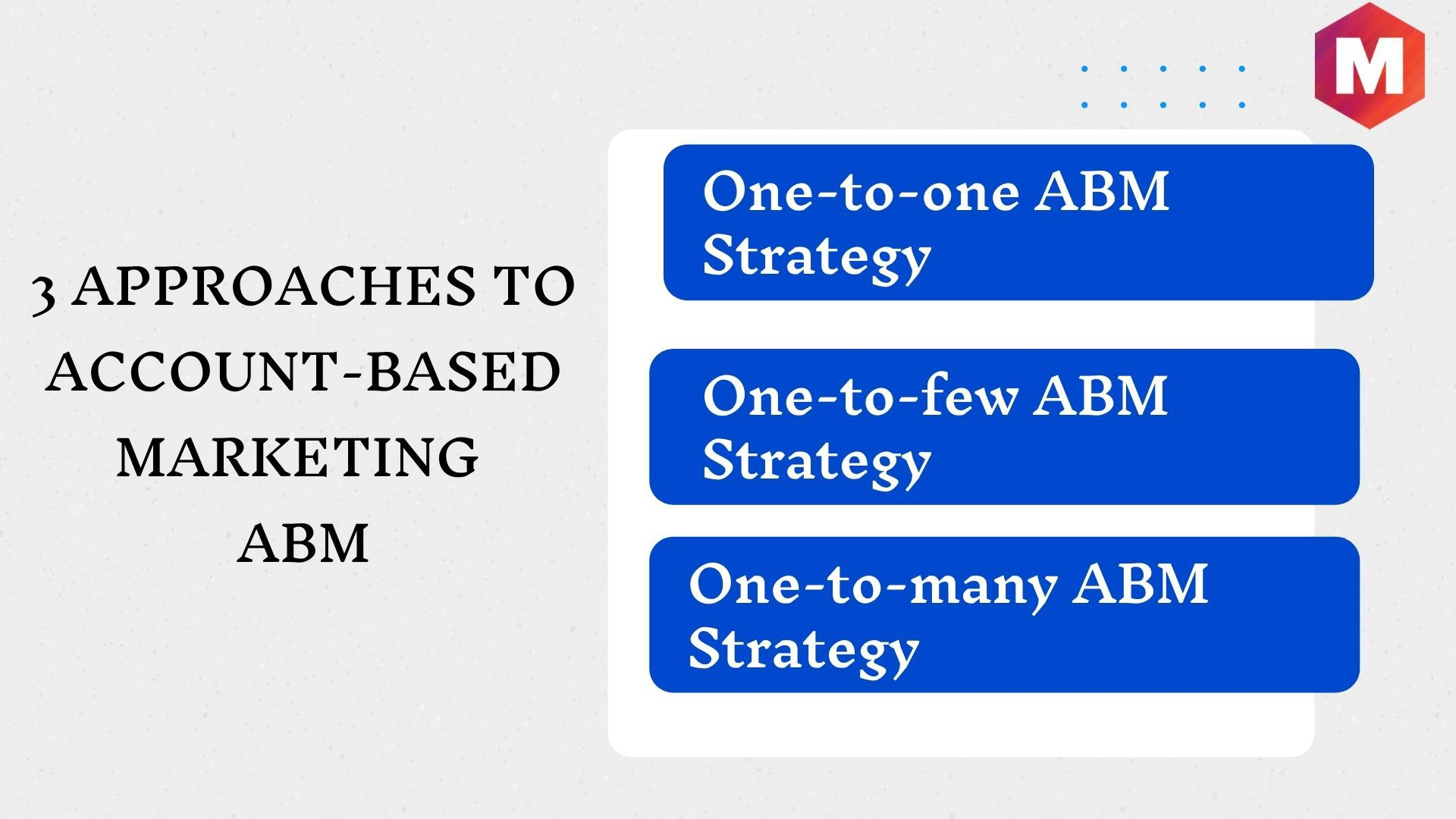 3 approaches to Account-based Marketing ABM