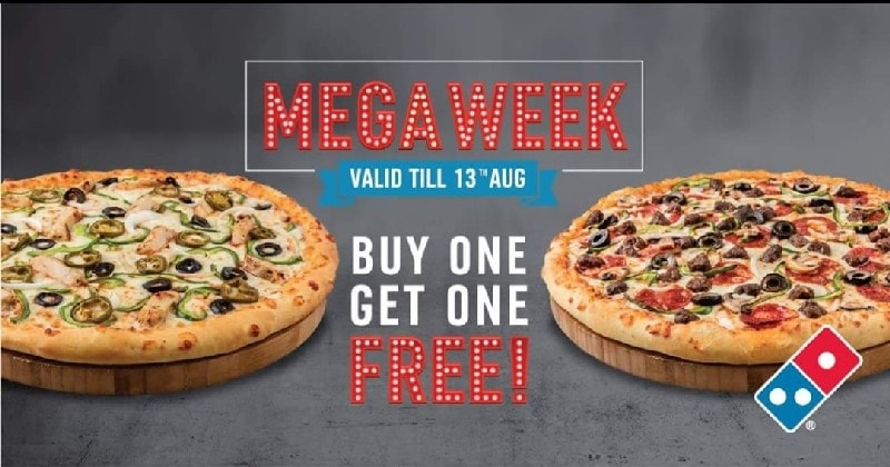 Buy one get one free of Domino's