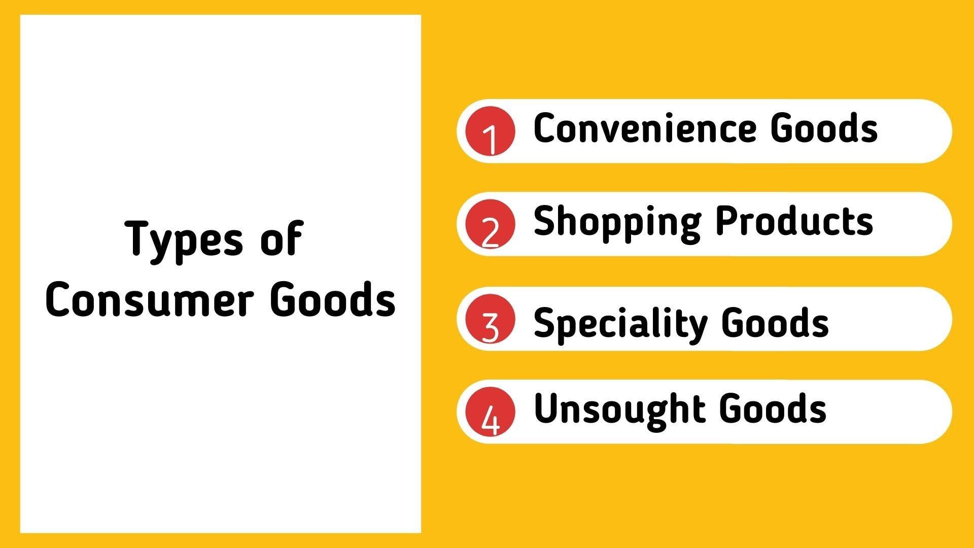 Types of consumer goods
