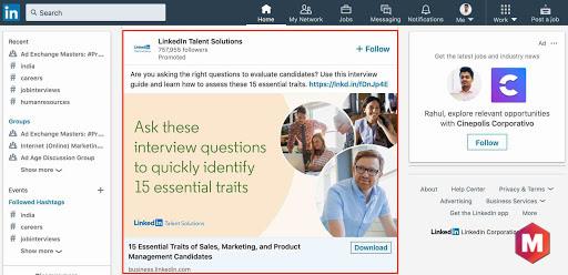 Какой тип рекламы в LinkedIn подходит вам