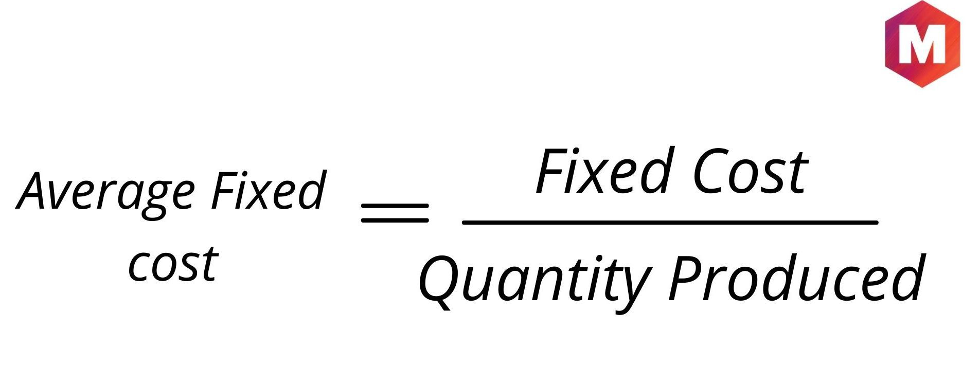 Calculation of Average Fixed Cost