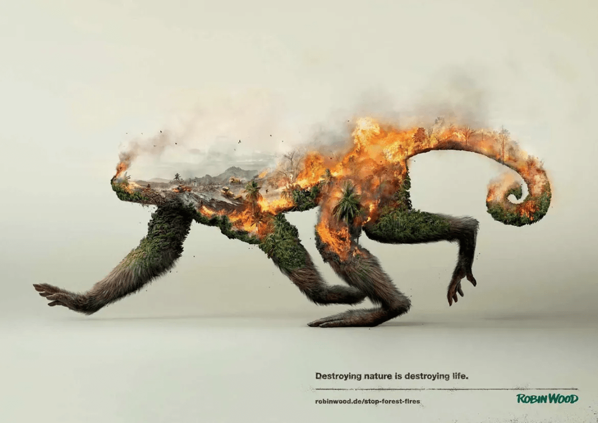 Destroying Nature is Destroying Life Social Ad