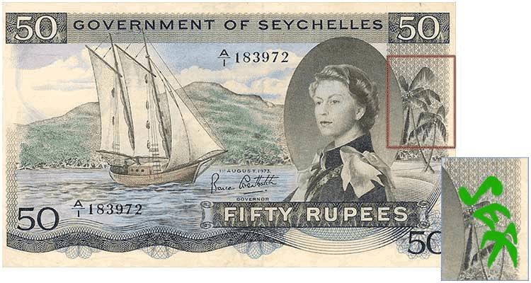 Seychelles' 50 Rupee Note